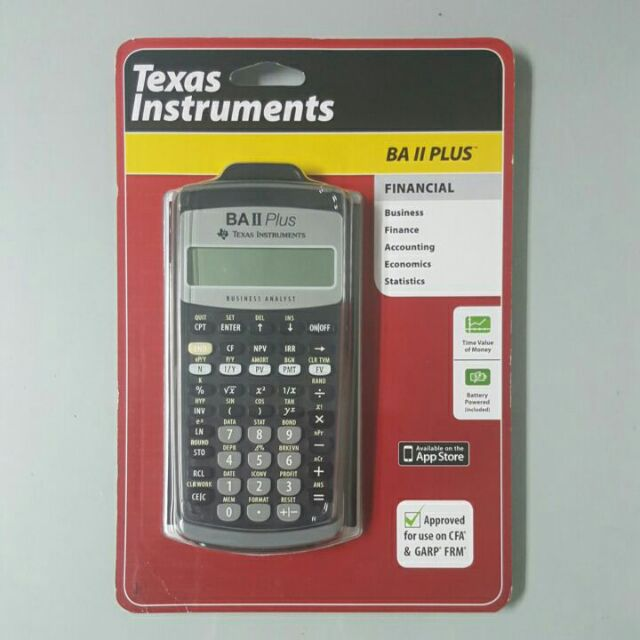 CFA] New in Sealed Box Texas Instruments BA II Plus Financial