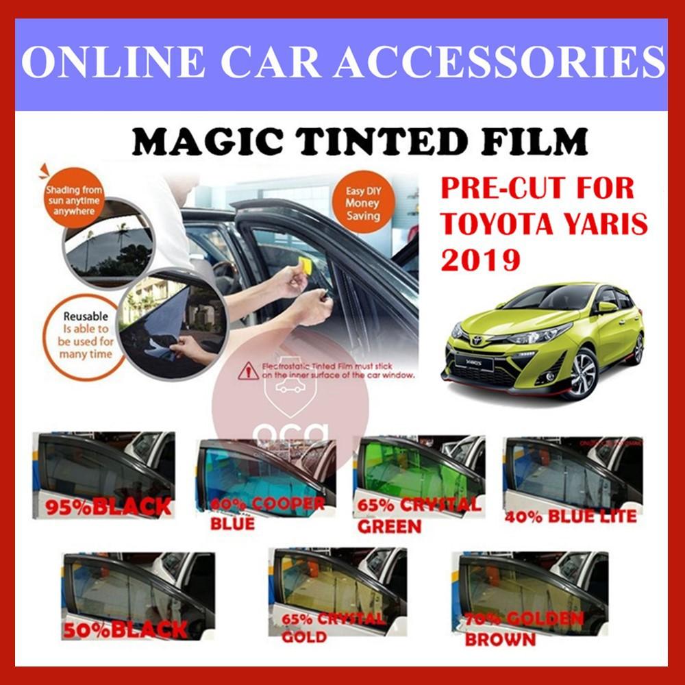 Toyota Yaris 2019  - Pre-Cut Shape Magic Tinted Solar Tinted (4 Windows & 2 Triangle /4 Windows+Rear)