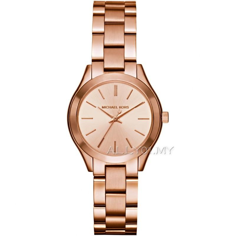2ca6bbd21ab0 💋Original Michael Kors Women s Darci Brown Glitz Bezel Watch MK3217 ...
