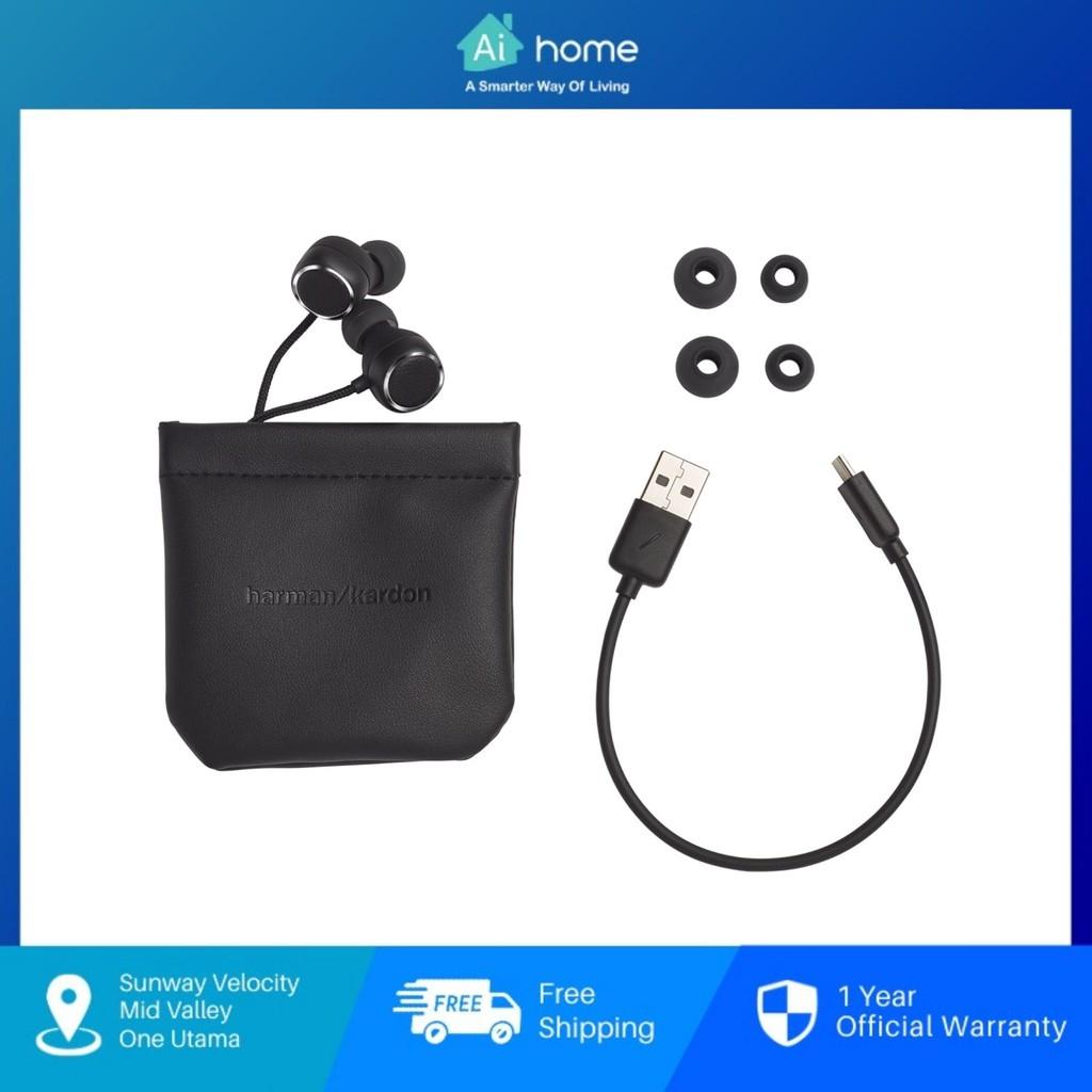 Harman Kardon Fly BT Bluetooth In-ear Headphones - Harman Kardon Beautiful Sound | Voice Assistant |8H Playtime [Aihome]