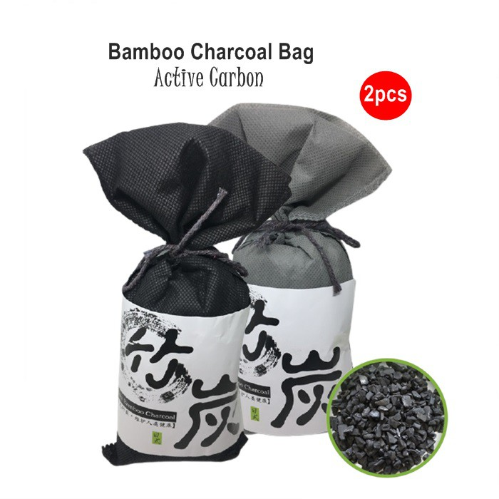 Japan Bamboo Charcoal Bag Active Carbon Air Freshener Purifier For Car Home 100g Universal Myvi Kancil Axia Wira Alza