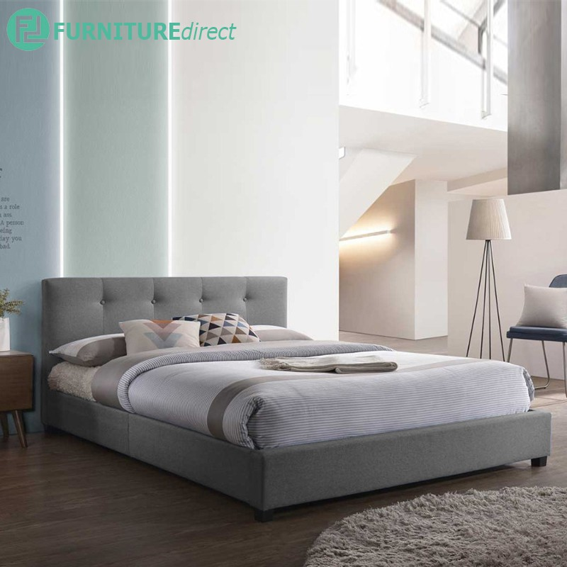 Furniture Direct TAYLOR queen size fabric bed frame/ katil queen/ katil queen kain