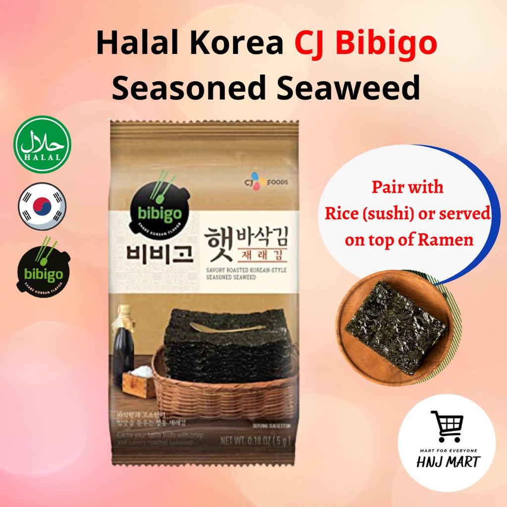 Halal Korea CJ Bibigo Seasoned Seaweed Snack Seaweed Korea Halal Seaweed Roasted Seaweed Dried Seaweed Halal 韩国CJ调味紫菜海苔