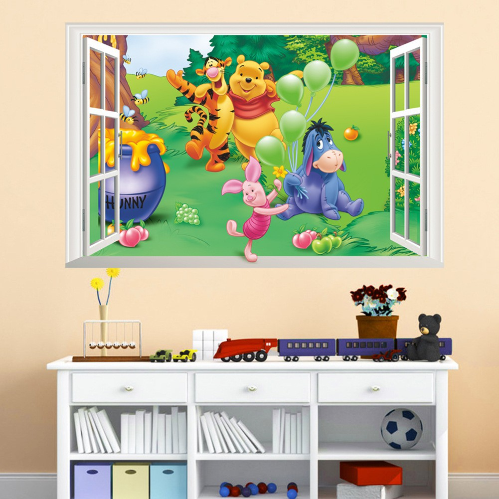 Kid Room Decor Animal Decal Children Height Growth Chart Measure Wall Sticker BH