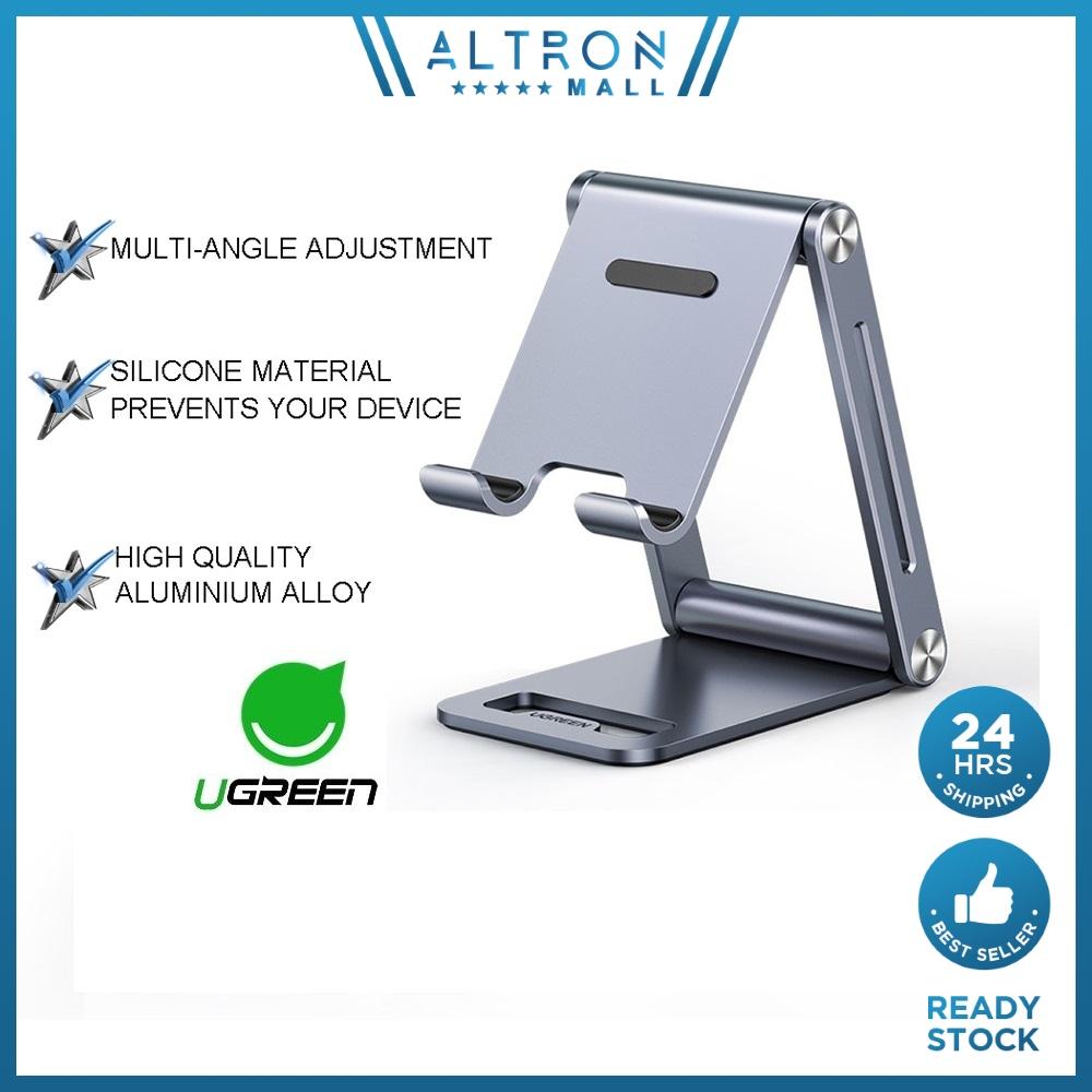 UGREEN Desk Phone Stand Holder Docks Stands Aluminium Cell Phone Adjustable Desks Mount Dock Holder Mounts Stand