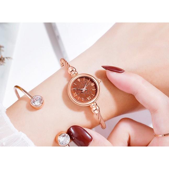 Jam Tangan Women Bracelet Watch Diamond Starry Luxury Bracelet Watches