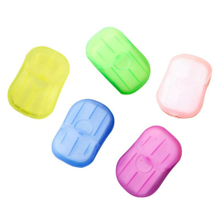 [Ready Stock] Travel Disposable Soap tablets hand washing Carry Paper 1 Box 20pcs Soap Paper Box 随身携带香皂片
