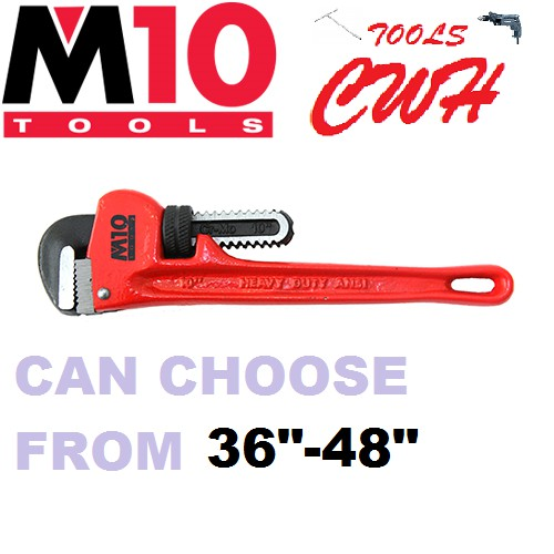 """36"""" 48"""" M10 DUCTILE CAST IRON PIPE WRENCH"""