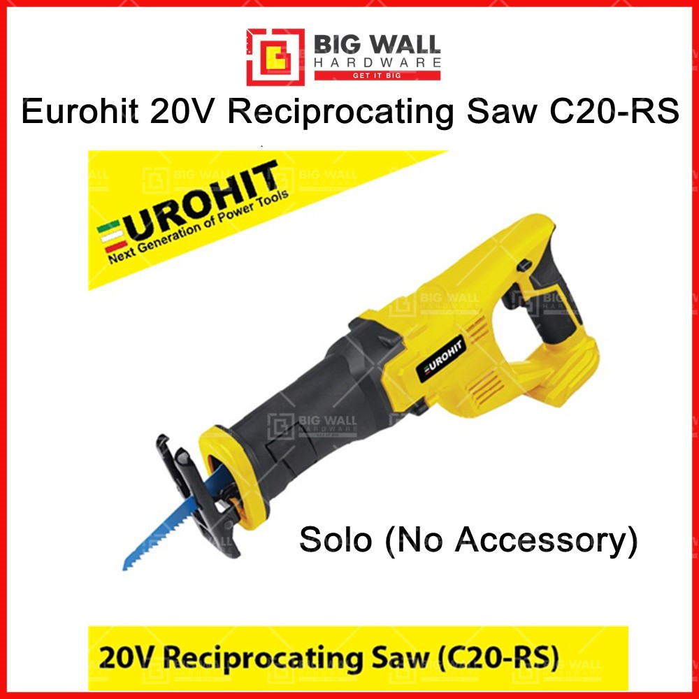 Eurohit 20V Reciprocating Saw C20-RS Big Wall Hardware