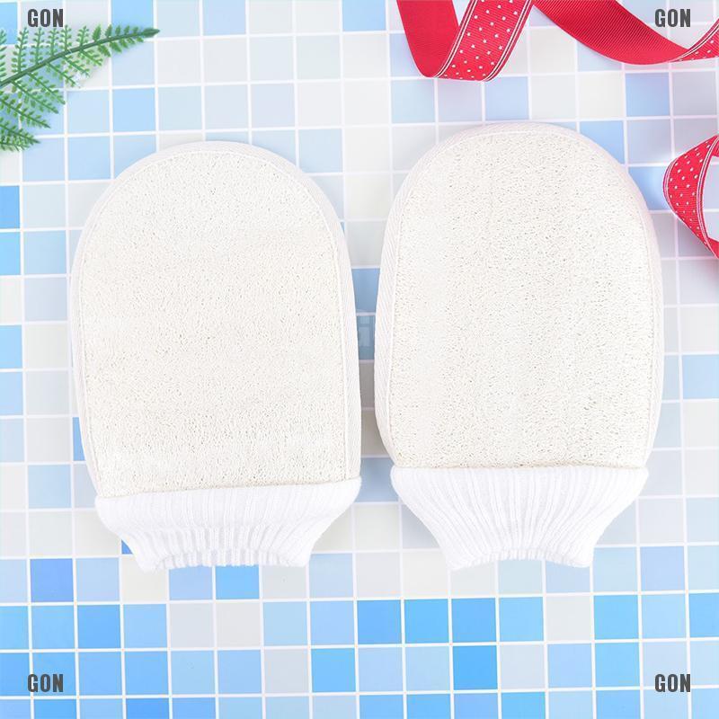【COD】natural loofah luffa bath shower sponge body scrubber exfoliator washing gloves