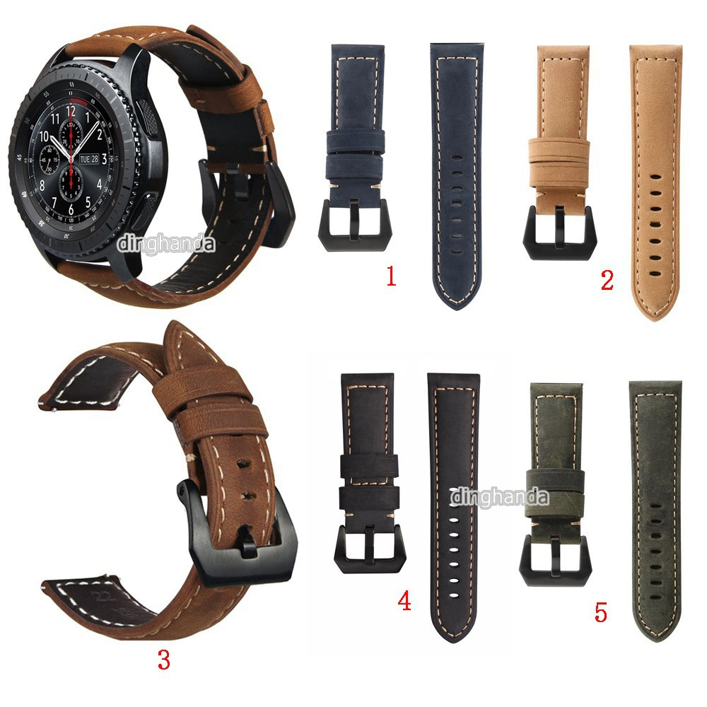 Crazy Horse Soft Genuine Leather Band Strap For Samsung