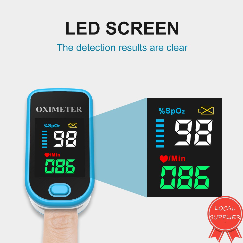 Portable Digital OLED Fingertip Pulse Oximeter Blood Oxygen Saturation Monitor With Lanyard SPO2 PR Pulse Rate Monitor
