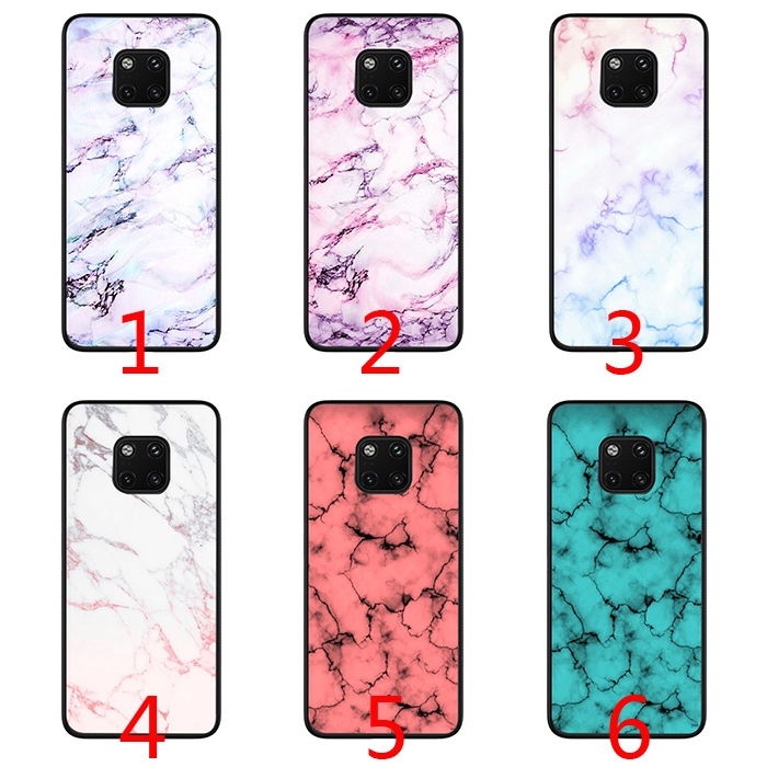 Retro Marble Soft Phone Case for Huawei Y9 Mate 10 20 Lite Pro Nova 3 3i