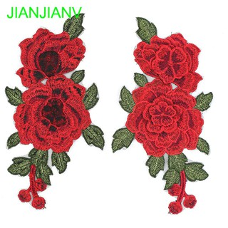 2pcs/Set Craft Repair Clothes Sew on Badge Rose Flower | Shopee Malaysia