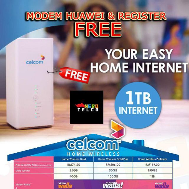 Huawei b618s FREE daripada Celcom
