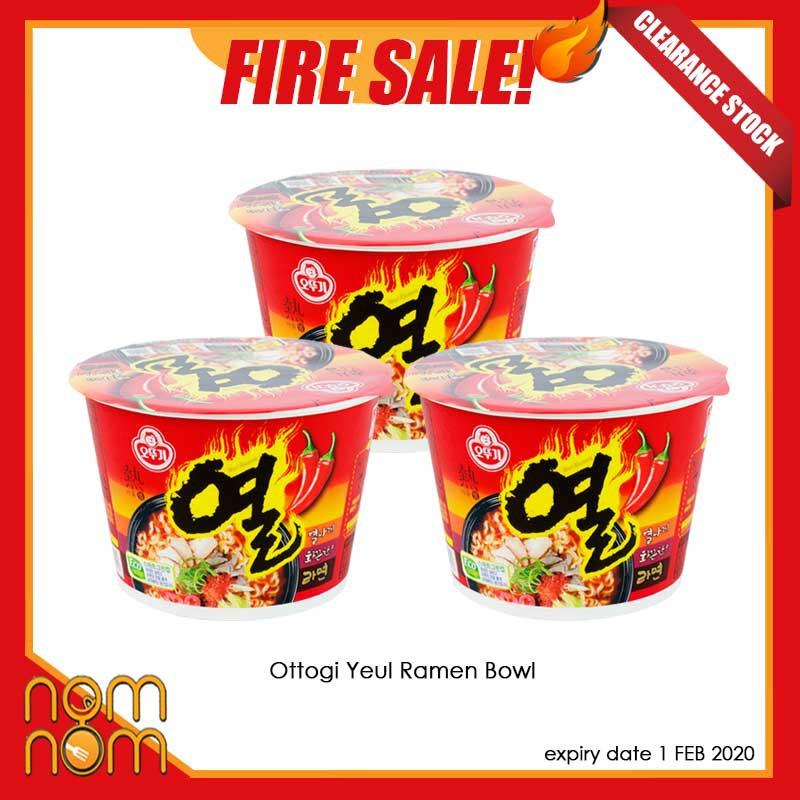 FIRE SALE: 3x BOWL OTTOGI YEUL RAMEN