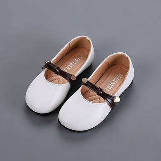 Toddler Baby Girls Children Flower Leather Single Shoes Soft Sole Princess Shoes