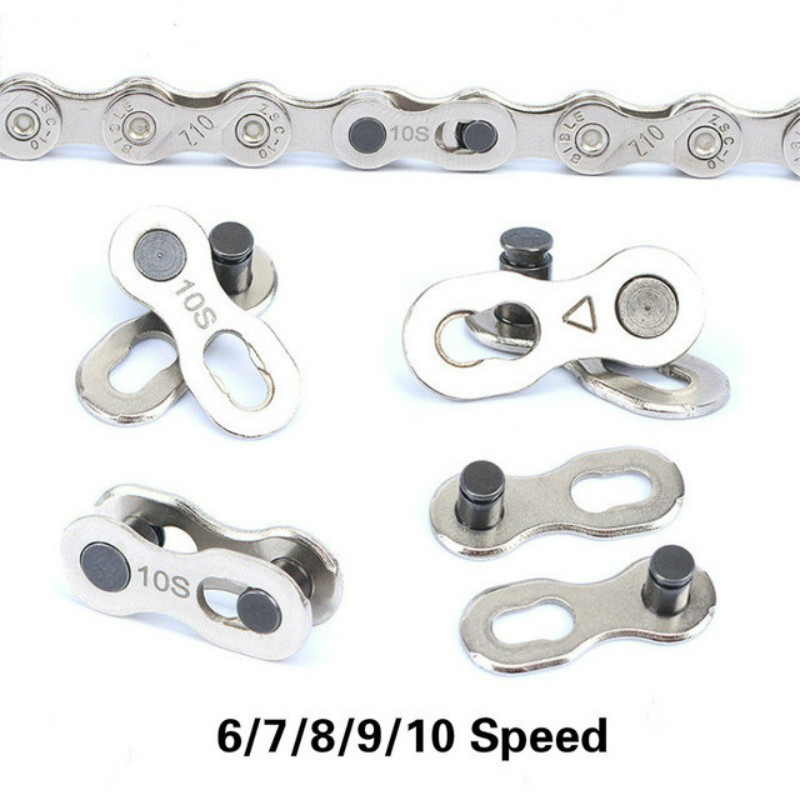 6 Pairs Reuseable Bike Chain Buckle Connector Link Joint For 6//7//8//9//10//11 Speed