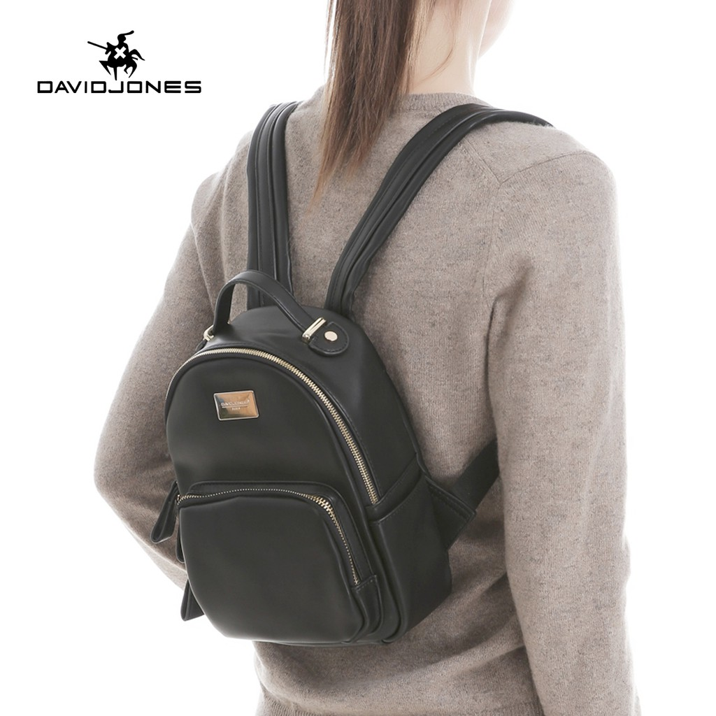 David Jones Genuine Leather Small Mini Backpack