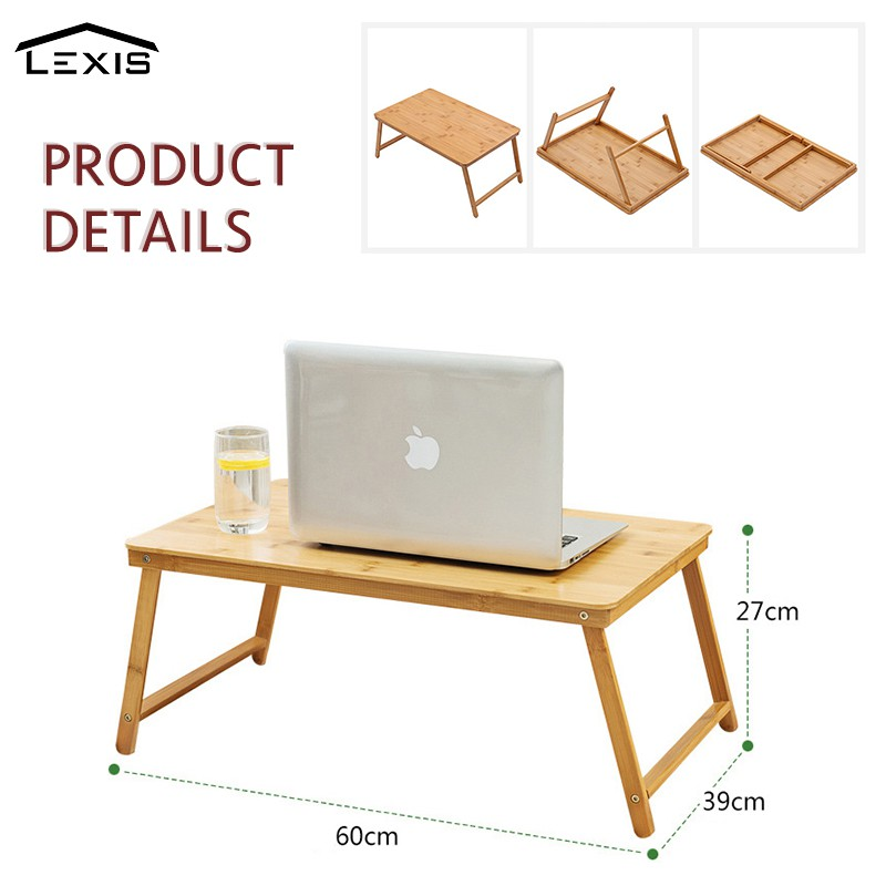 Color : Black, Size : 52cm BETTY Tables Portable Laptop Desk Foldable Lifting Laptop Desk Sofa Table Stand Bookshelf with Mouse Board Tray