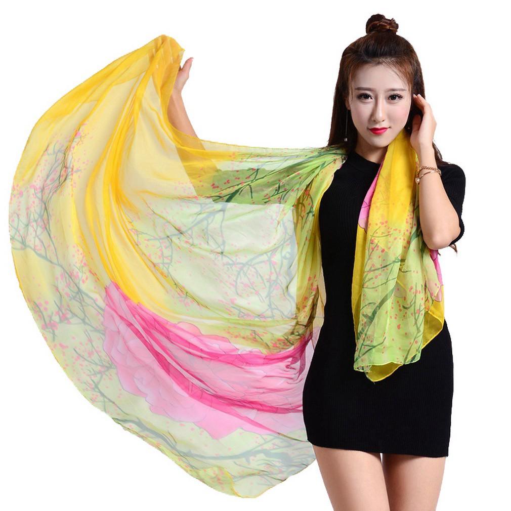 085c1555186 YiyiLai Women Large Flower Bikini Cover Ups Shawl Sarong Wrap Beach ...