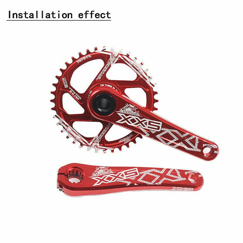 34//36//38//40t GXP Direct Mount Single Speed Crankset MTB Bike Crank BB Chainring