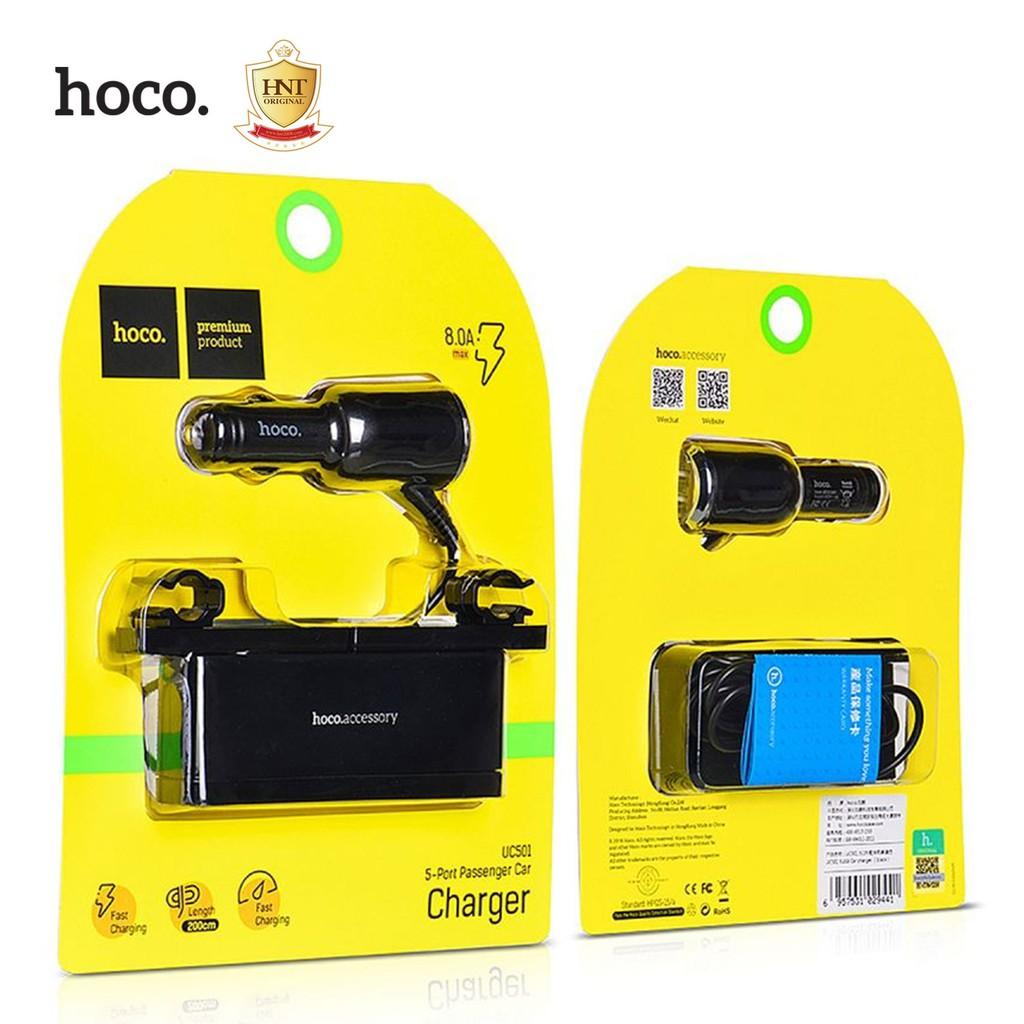 HOCO UC501 Multiple 5-Port USB DC12-24V 5V/8A 40W Car Charger