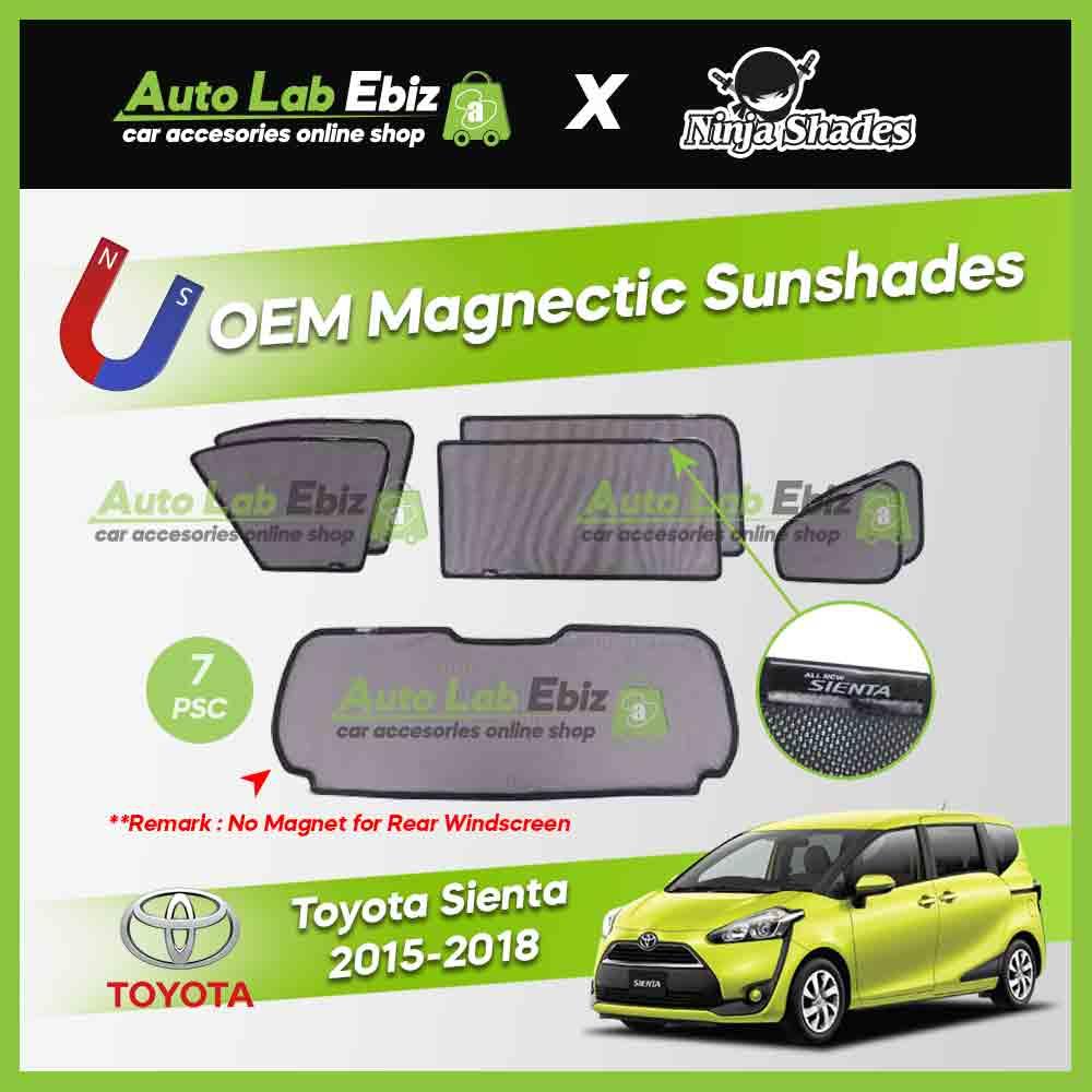 Toyota Sienta 2015-2018 Ninja Shades OEM Magnetic Sunshade (7pcs)