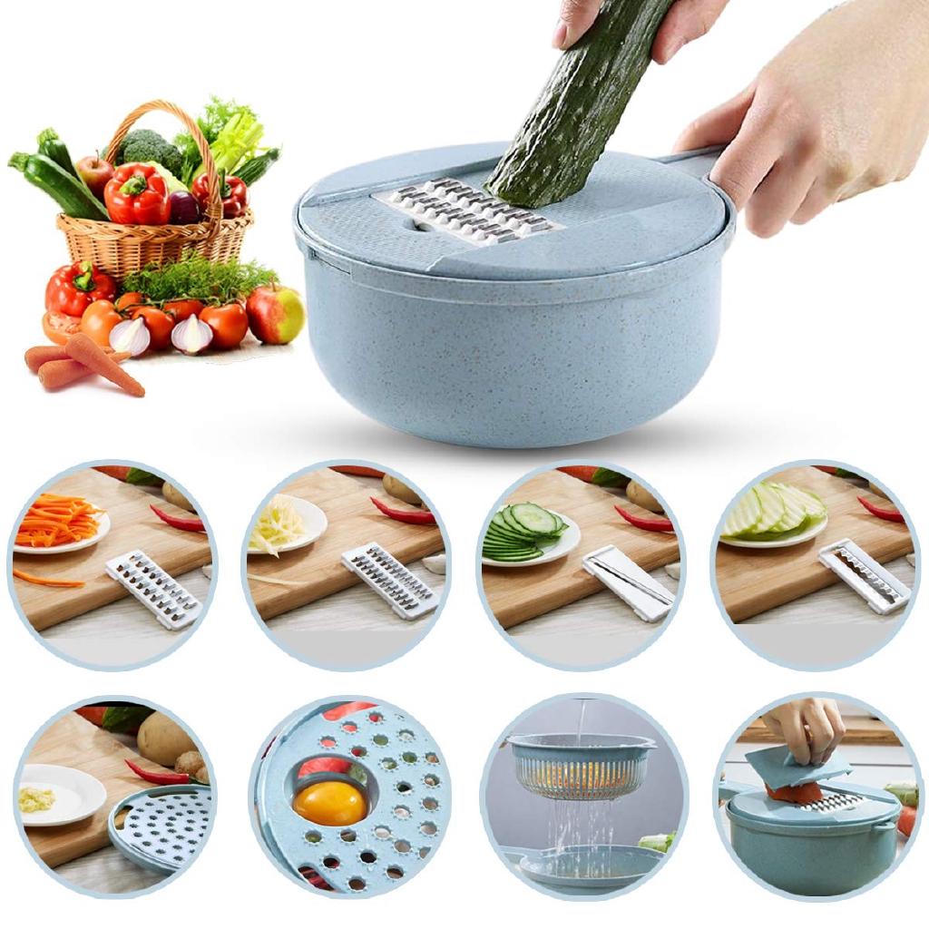 18 IN 1 Multi-function EASY FOOD CHOPPER Mandoline Vegetable Cutter Food Slicer