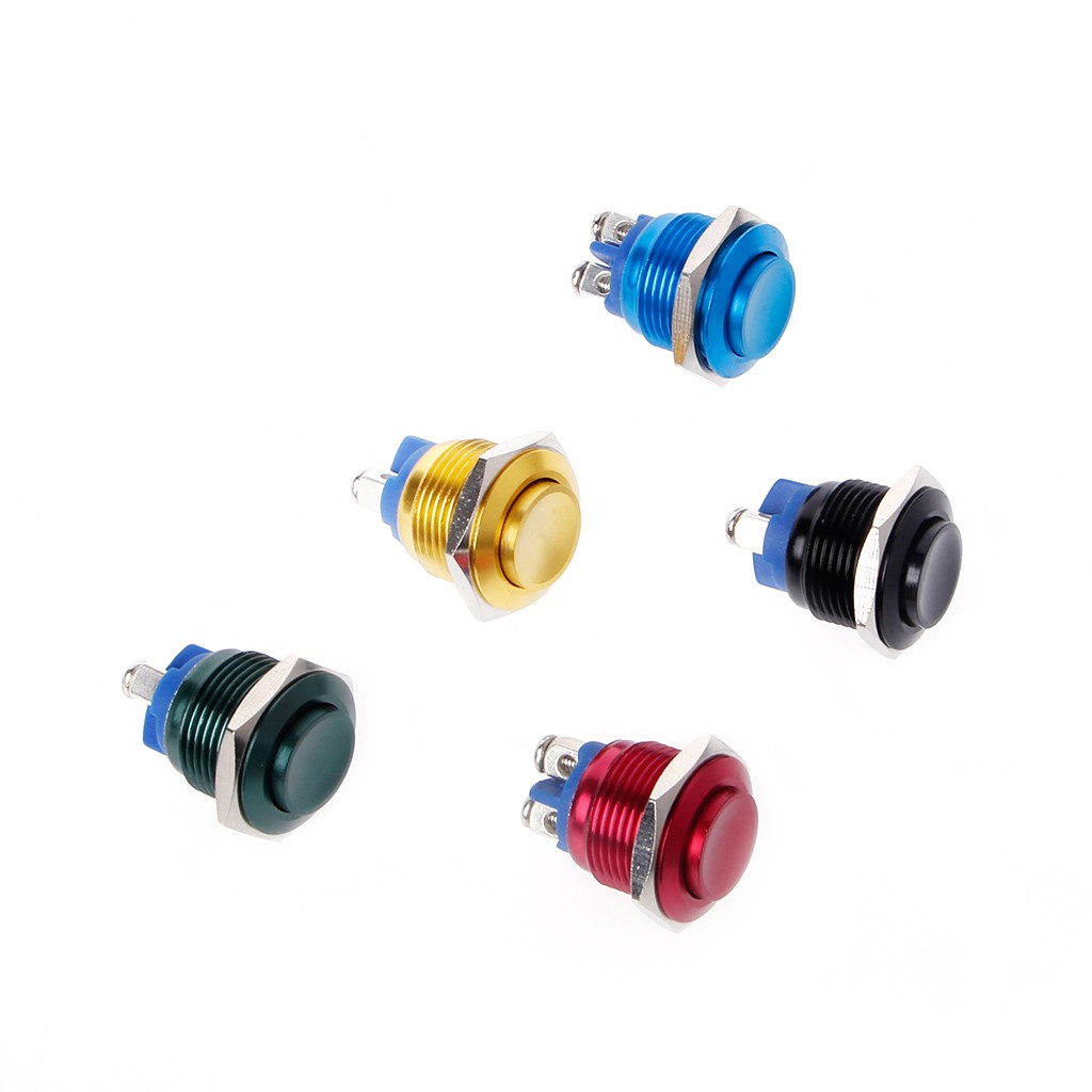 Car Boat 16mm Momentary Push Button Switch 3A/250V DC