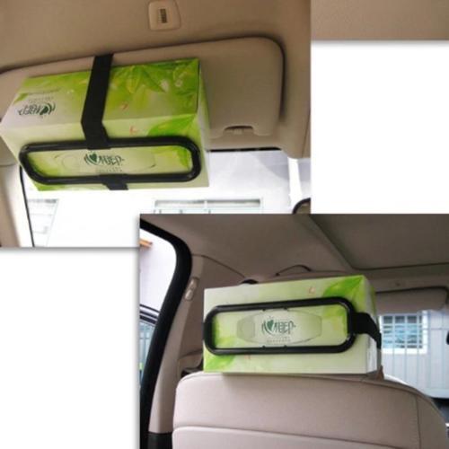 Paper Box Holder New Car Auto Sun Visor Tissue Napkin Seat Back Clip Bracket