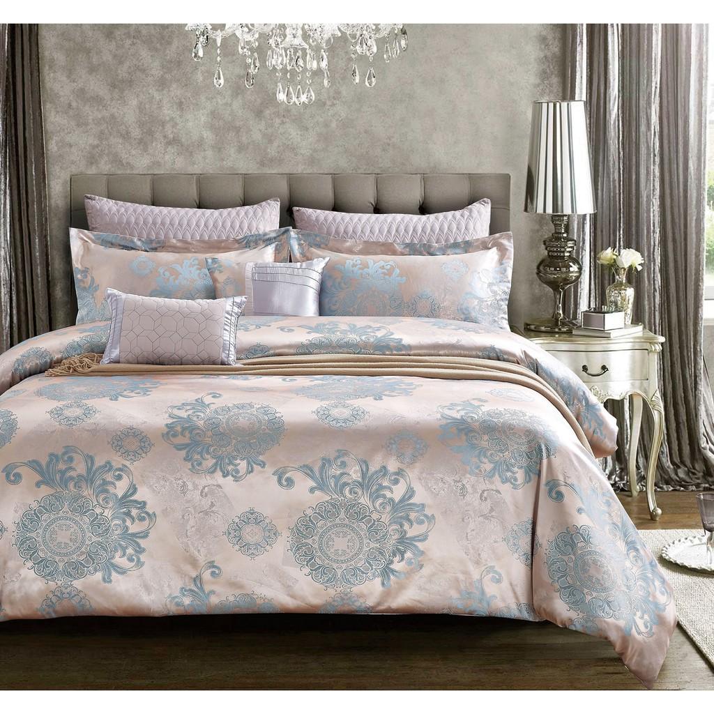 Chester London, 7pcs Silky Jacquard Comforter Set , QUEEN - SEATTLE