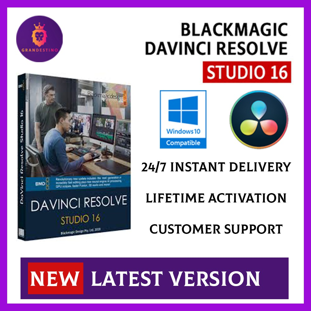 Blackmagic Design Davinci Resolve Studio 16 2 0 55 Windows X64 Shopee Malaysia
