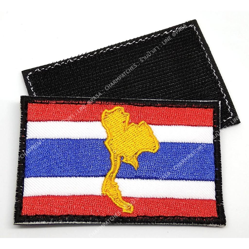 ธงชาติตีนตุ๊กแก อาร์มธงชาติไทย ขวานทอง หลังตีนต