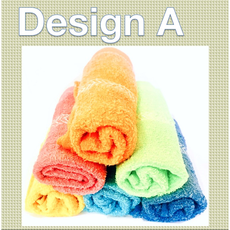 Soft and Comfortable Cotton Face Towel Colorful Simple Design