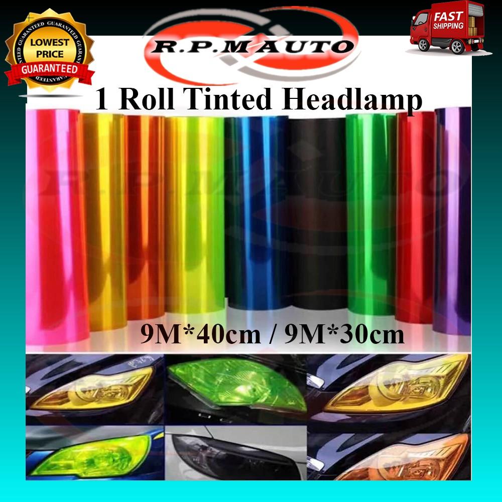 1 Roll 9M*40cm 9M*30cm Car Lamp Tinted headlamp Tint Headlight Fog light Tail Light Sticker tinted lampu kereta motor