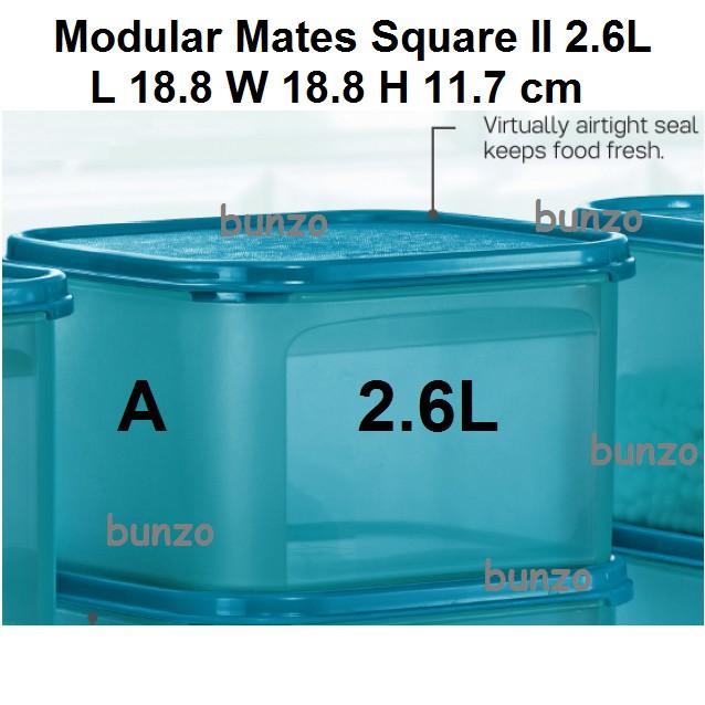 Tupperware Modular Mates Square II 2.6L - 1pc