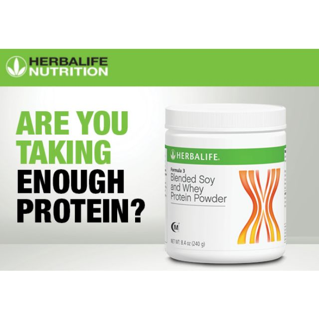 Herbalife Formula 3(F3)Blended Soy and Whey Protein Powder
