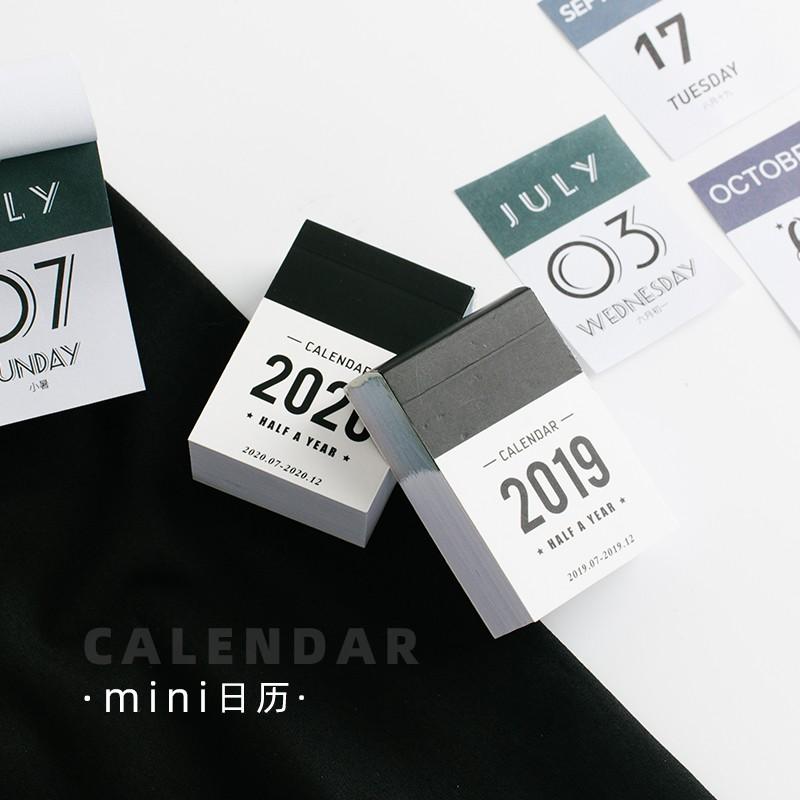 Calendario Serie A 2020 12.2020 2019 Year Mini Calendar Stationery Index Decorative Stickers Label Calendar Sticker Diy Work Schedule Calendar