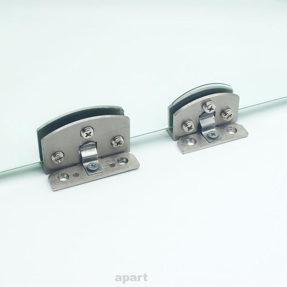 Set of 2 Zinc Alloy Cabinet Cupboard Bathroom Glass Door Clamp Hinge DIY Tool