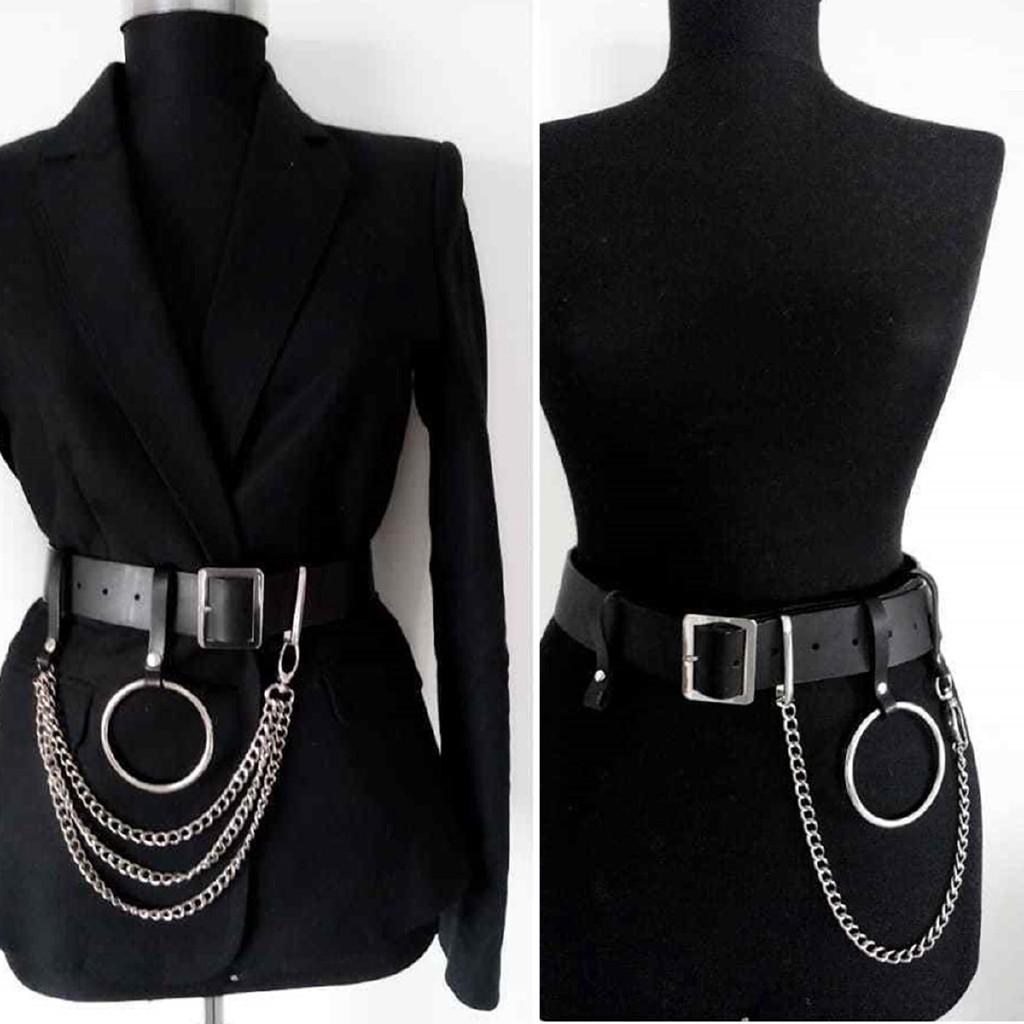 Mens Women Genuine Leather Belt Metal Pin Buckle Waistband Strap Waist Jewelry