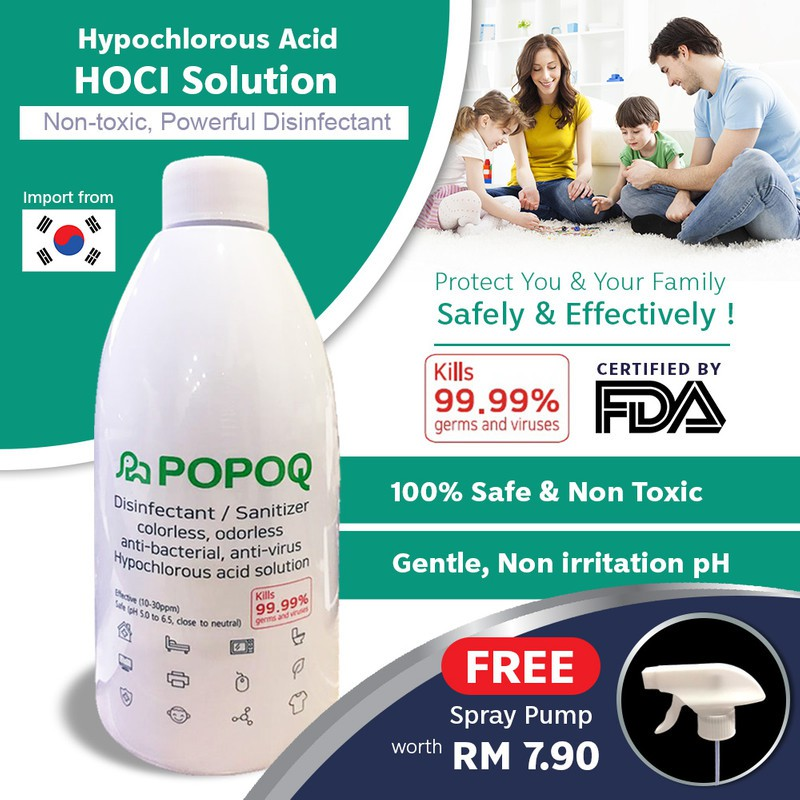【Korea Spray-No parabens & chemical】2x Popoq, 1x 500mL Handwash, Walch Wet Wipe