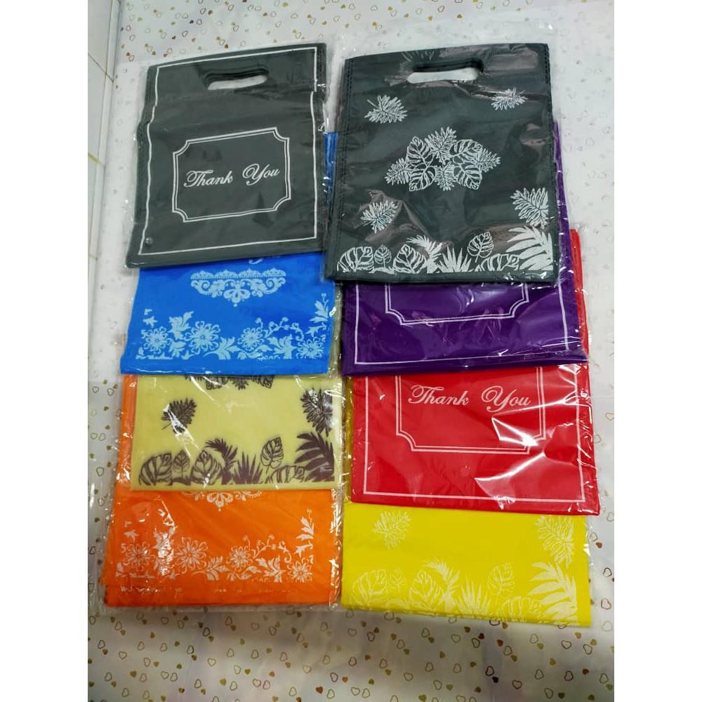 10 Beg Kain A5 Bajet Non Woven Goodies Bag Gift Bag @ 8 warna