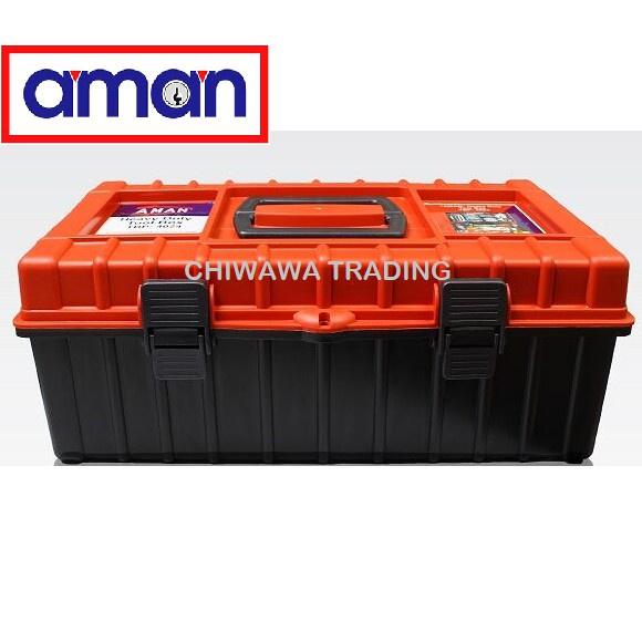 AMAN PVC Multipurpose Two Layer Tool Storage Box Professional Design