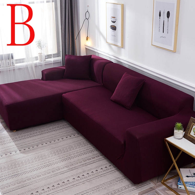 1-4 Seat Sofa Couch Cover Sectional Stretch Elastic Fabric L Shape Slipcover Hot