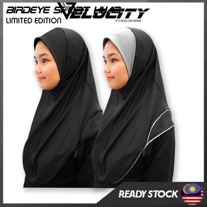 [READY STOCK] Velocity Pro Sport Hijab Quick dry Hijab Light Weight Hijab