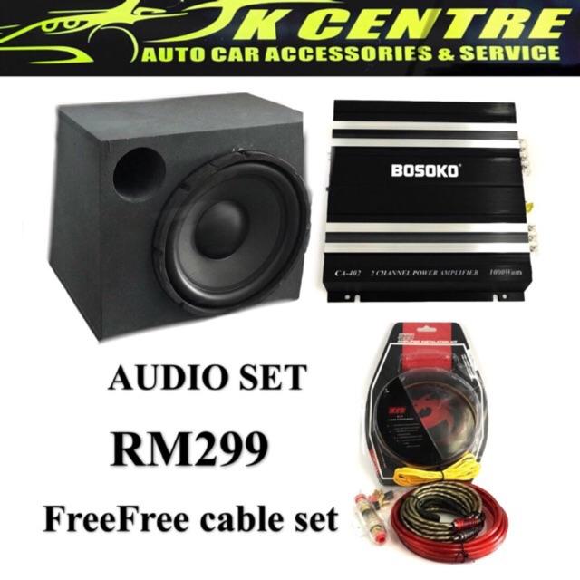 """Audio set 12""""subwoofer/amplifier"""