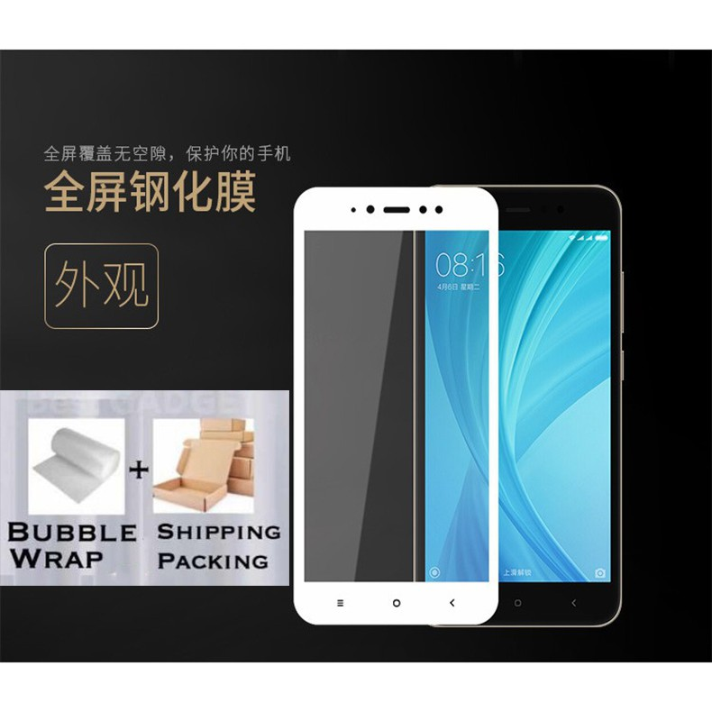 (Full) Redmi Xiaomi Mi A2 lite S2 6 6A 5plus 8 Note5 Note 5A Note6 Full Tinted Tempered Glass Screen Protection