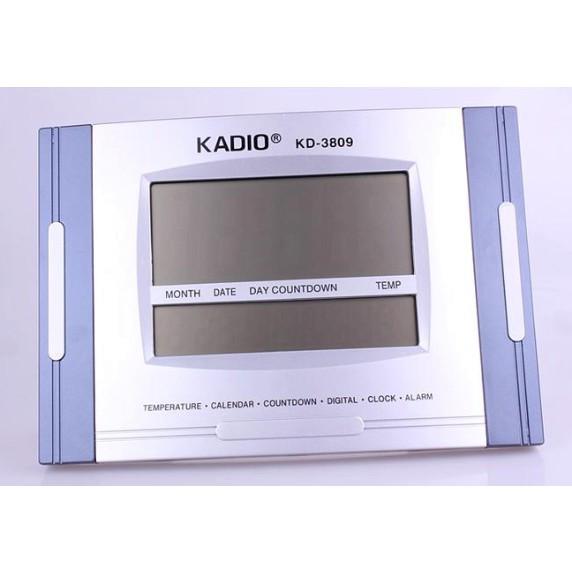 KADIO Clock KD-3809 Large Clock Calendar Temperature Alarm Clock