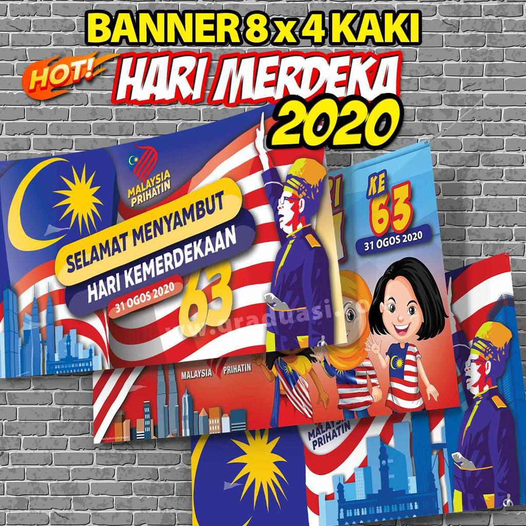 Banner Selamat Hari Merdeka Selamat Hari Kebangsaan Malaysia Happy National Day 4 X 8 Ft Shopee Malaysia